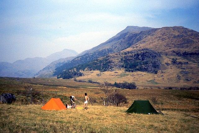 Camp in Inverie Glen