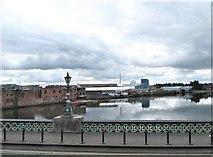 J3473 : The River Lagan above the Albert Bridge by Eric Jones