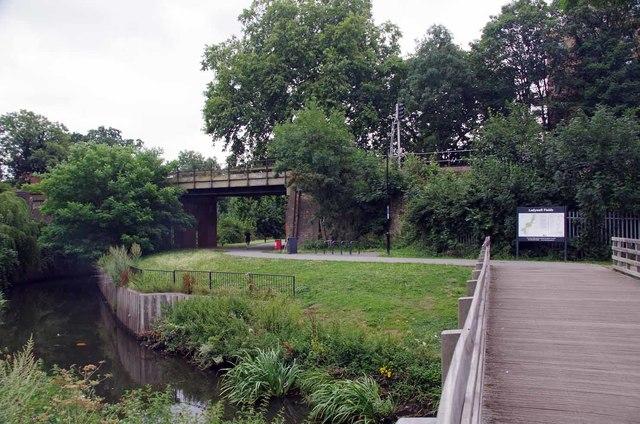 Footbridge in Ladywell Fields