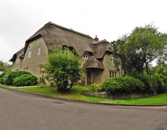 Substantial new thatched house, Barton St David