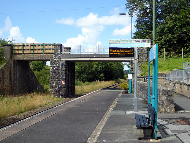 Looking west from Penychain station