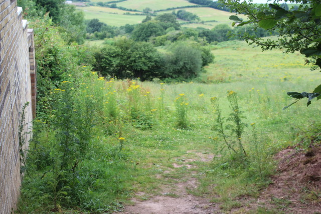 Footpath down from Ridgeway, Newport