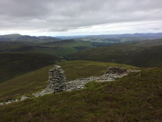 Stone cairn and shelter