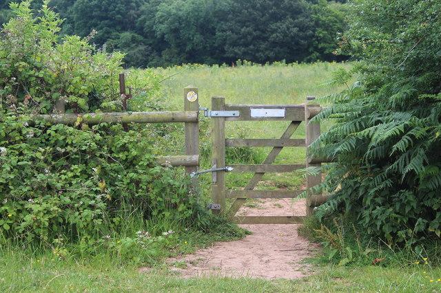 Footpath gate on Sirhowy Valley Walk