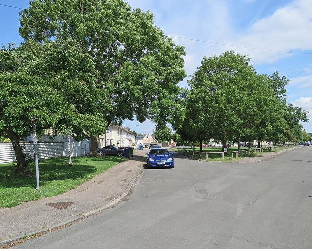 Cambridge: a green space on Peverel Road