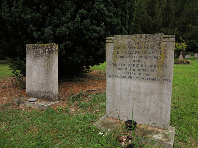 St Laurence's Church, Wormley, Herts: grave of two sisters-in-law who died in 1971