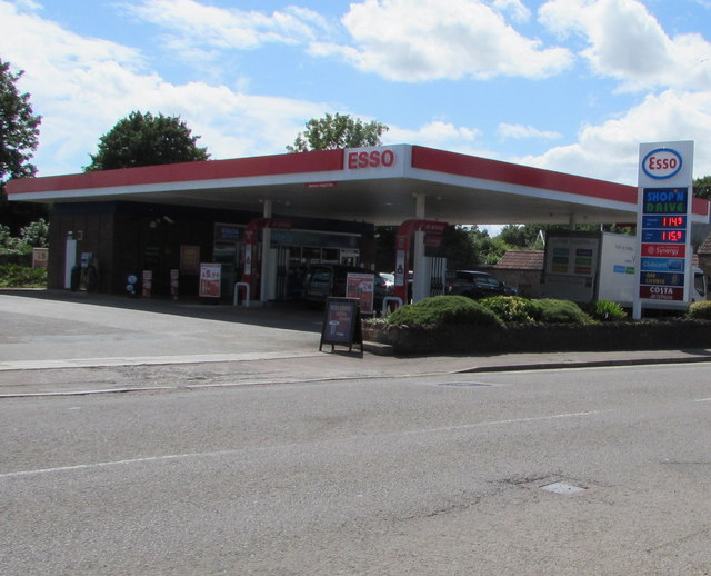 July 20th 2017 Esso fuel prices, Station Road, Yate