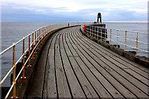 NZ8911 : Whitby. West pier by Robert Eva