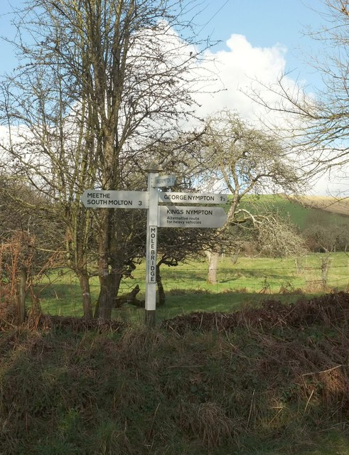 Signpost, Mole Bridge