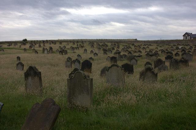 Whitby. St Mary's churchyard