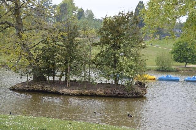Island in Dunorlan Lake