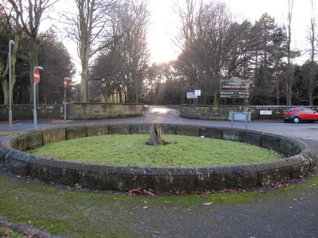 The Calderstones surround and park entrance