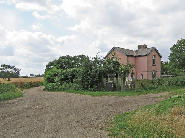 Former crossing-keeper's house on the Mildenhall Branch