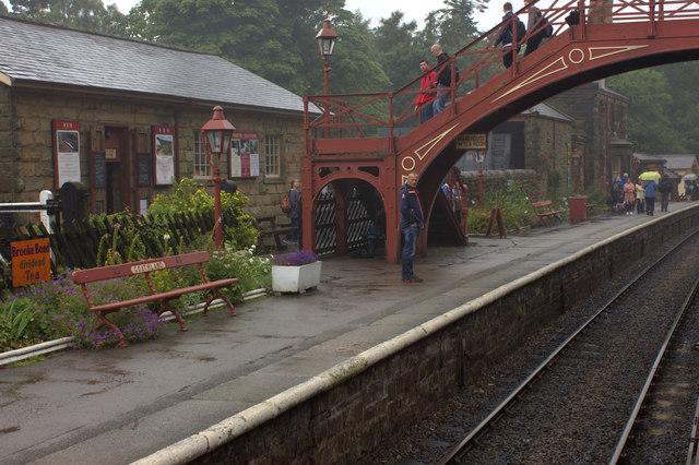 Goathland station, northbound platform
