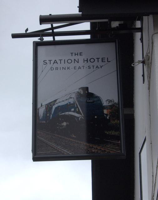 Station hotel sign, Pickering