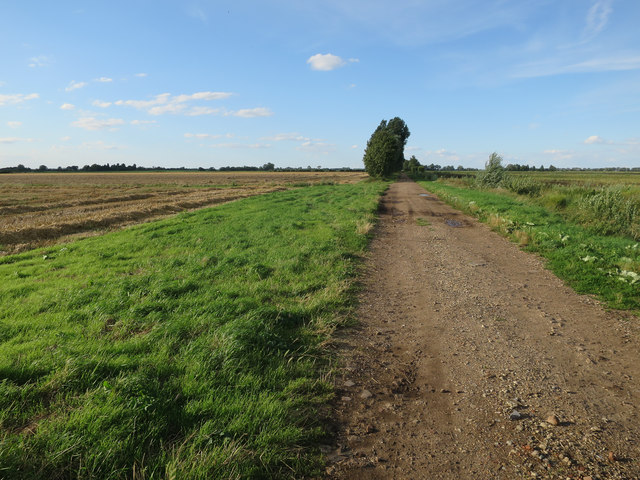 Minor road in the Fens