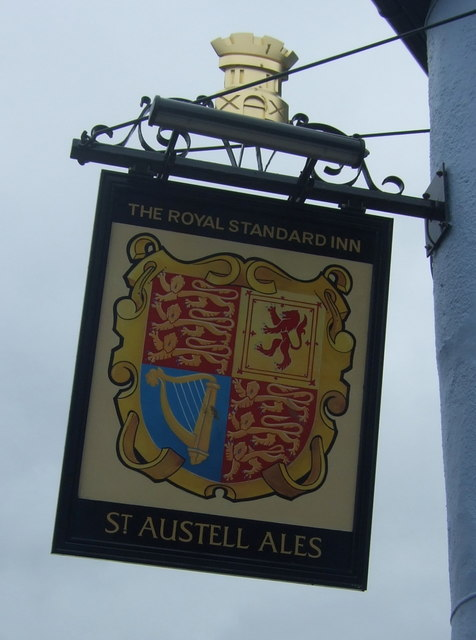 Sign for the Royal Standard Inn, Hayle