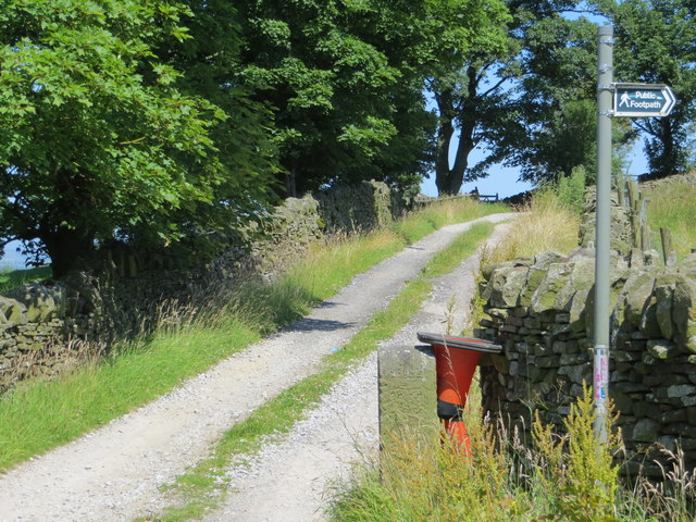 Track from Cob Lane to Thick Bank