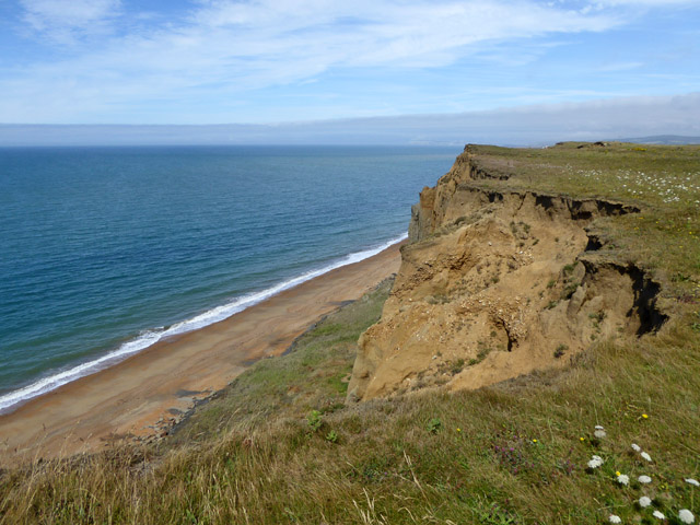 Eroding cliff east of Ladder Chine