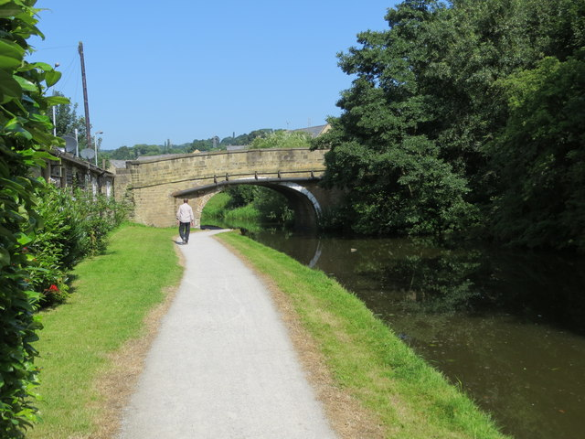 The Leeds and Liverpool Canal at Swine Bridge