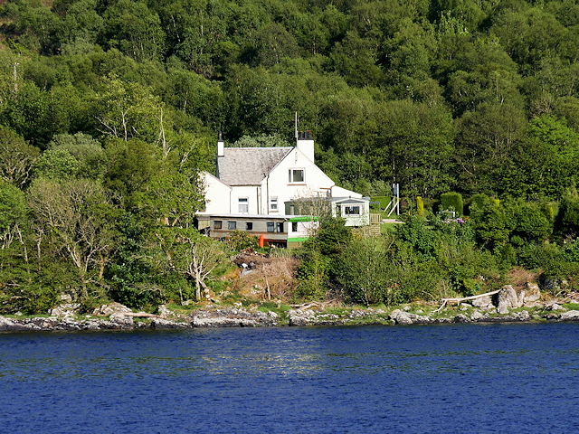 House near the Shore at Loch Linnhe