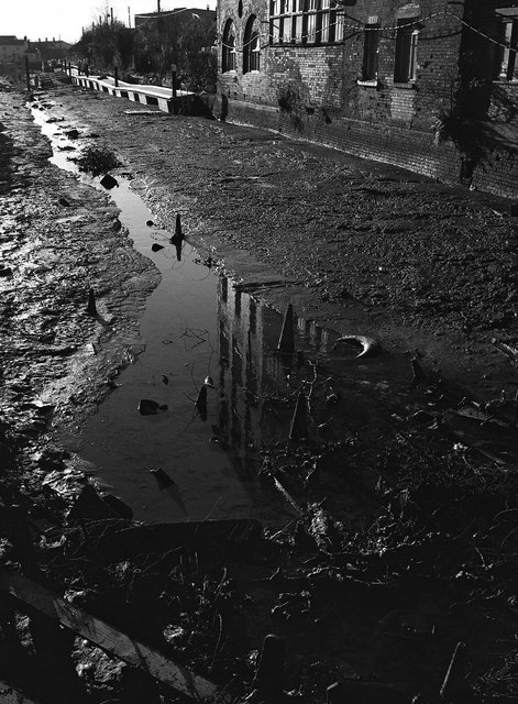 Drained Worcester and Birmingham Canal