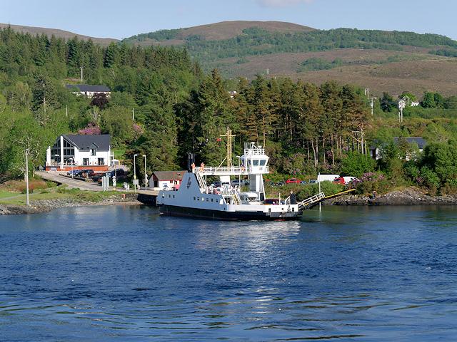 The Corran Ferry at the Nether Lochaber Slipway