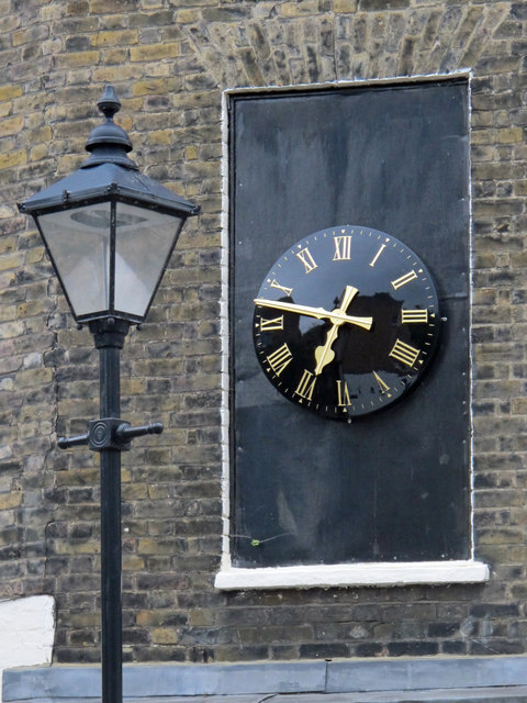 Clock on the corner building, Chadwell Street / Arlington Way, EC1