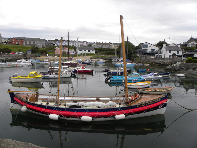 The Charles Henry Ashley in Cemaes harbour
