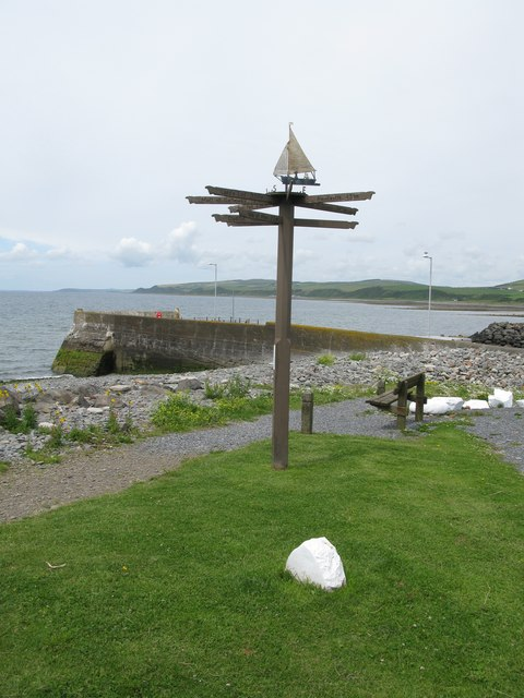 Direction Sign at Port William Harbour