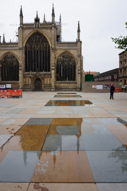 Shimmering Ponds in Trinity Square, Hull