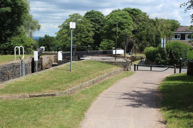 Track by Lock 21 at Cwm Lane