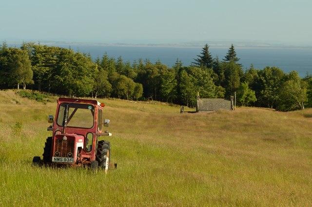 Tractor at Backies, Sutherland