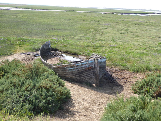 Wreck on the marshes, Blakeney