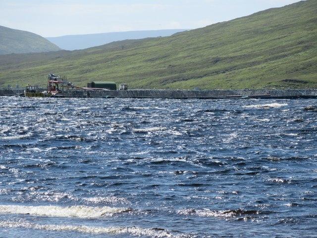 Aquatic harvesting on Loch Merkland near Lairg