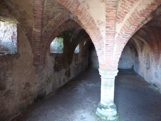 The undercroft, Blakeney Guildhall