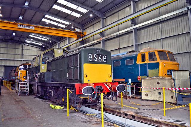 Rare diesels at Kidderminster Depot