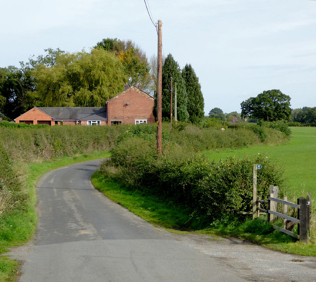 Lane north of Marbury in Cheshire