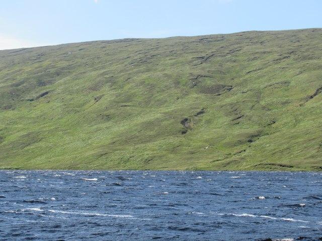 Leathad na Beiste above Loch Merkland near Lairg