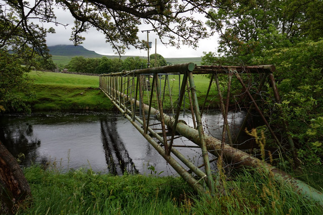 Sewage pipe over the River Ribble