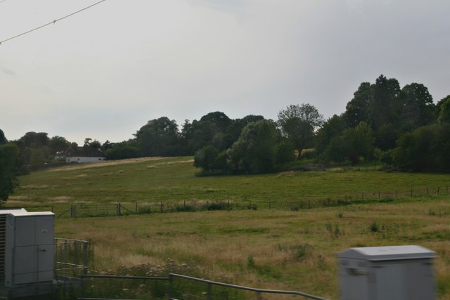 Meadows north of the railway and east of Stansted