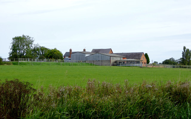 Farm and pasture south-east of Gauntons Bank, Cheshire