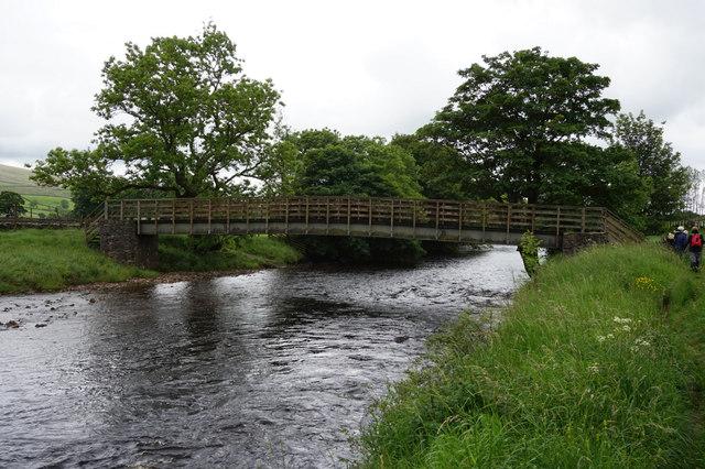Footbridge over the River Ribble