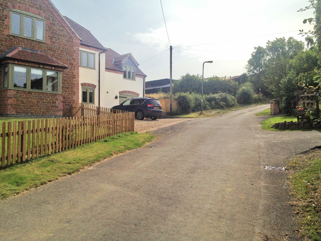 Looking up Toft's Hill, Stathern