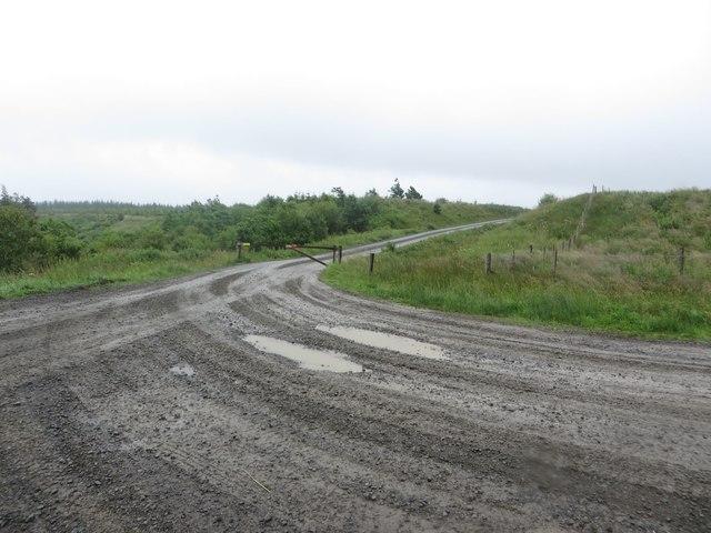 Track junction at Hans Hill
