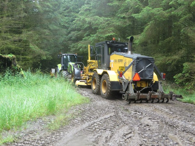 Track maintenance vehicles in Wark Forest