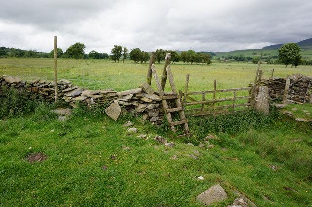Ribble Way north of  Helwith Bridge