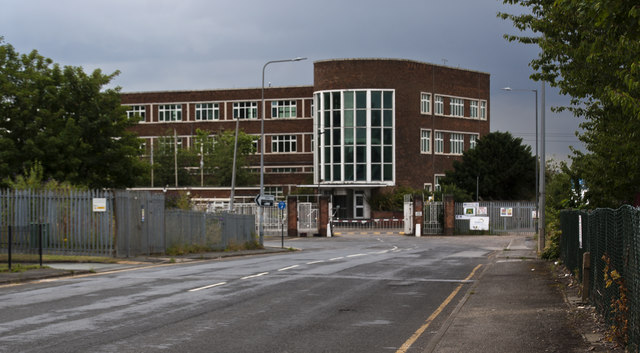The entrance to Mersey Wharf Business Park