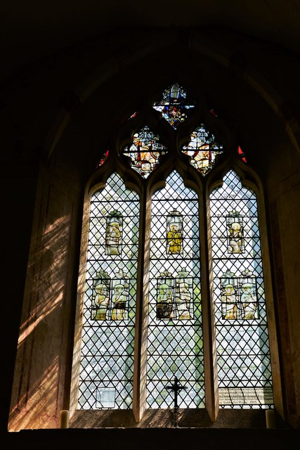 Hailes Old Church: East window with medieval glass 6