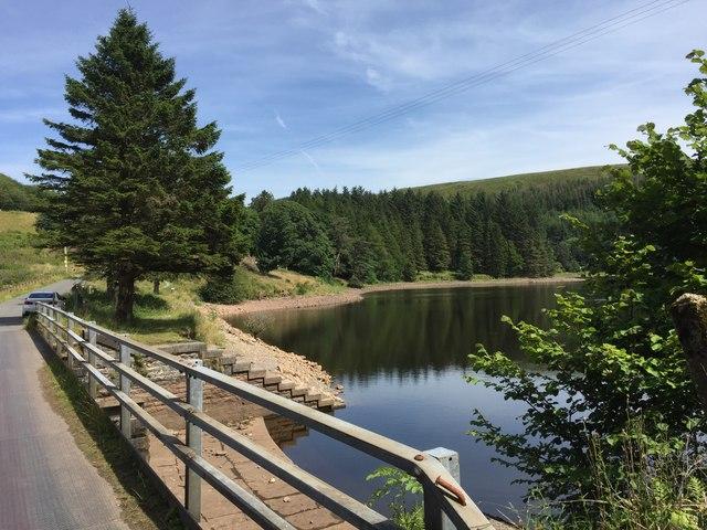 Road over Pontsticill Reservoir